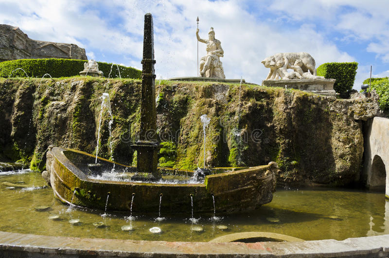 Jardins de d'Este de villa Tivoli - en Italie photographie stock