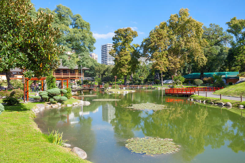 Jardins de Japonais de Buenos Aires images libres de droits