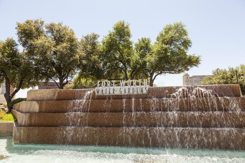 Jardins de l'eau à Fort Worth, TX, Etats-Unis image stock