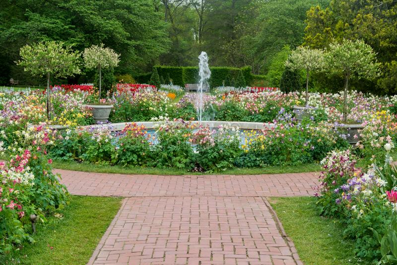 Jardins de Longwood images libres de droits