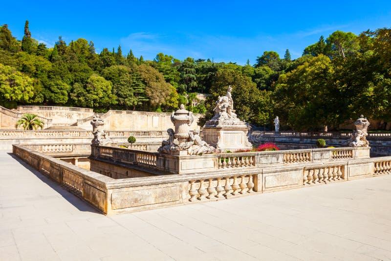 Jardins De Los angeles Fontaine park zdjęcie stock
