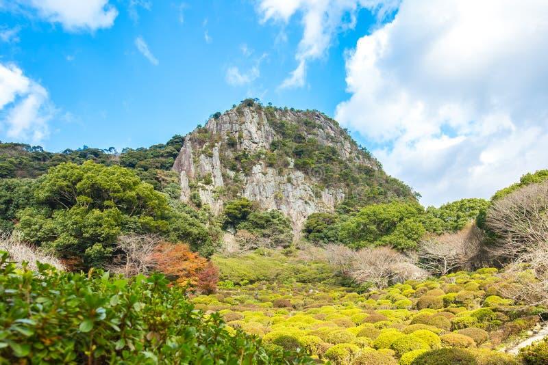 Jardins de Mifuneyama em Takeo, saga, Japão imagens de stock royalty free