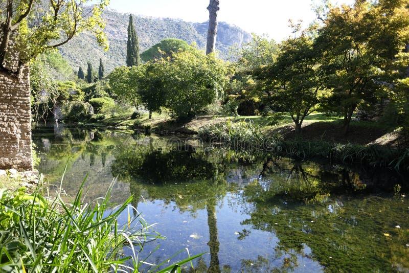 Jardins de nymphe photographie stock libre de droits
