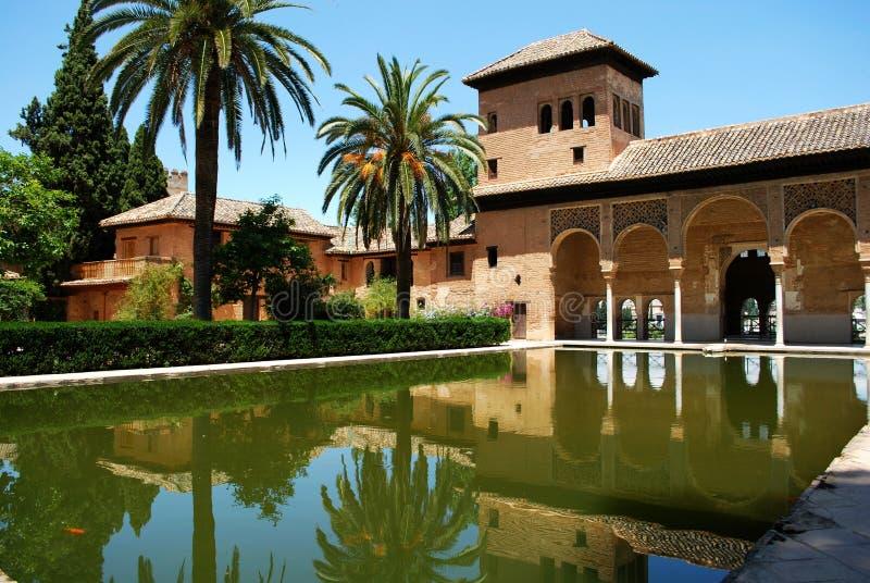 Jardins de Partal, Alhambra Palace imagens de stock royalty free