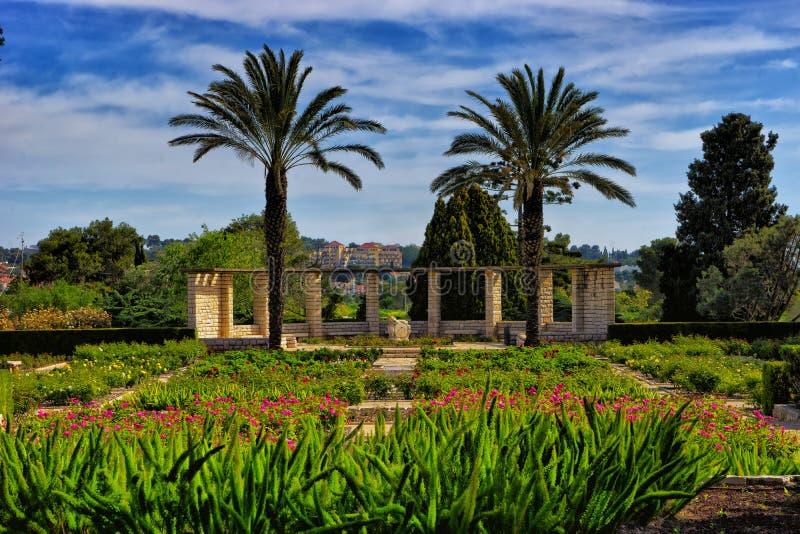 Jardins de Ramat Hanadiv chez Zihron Yaakov photo libre de droits