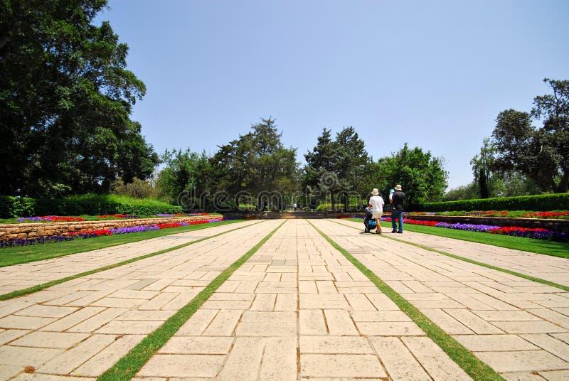 Jardins de Ramat Hanadiv, Israel fotografia de stock