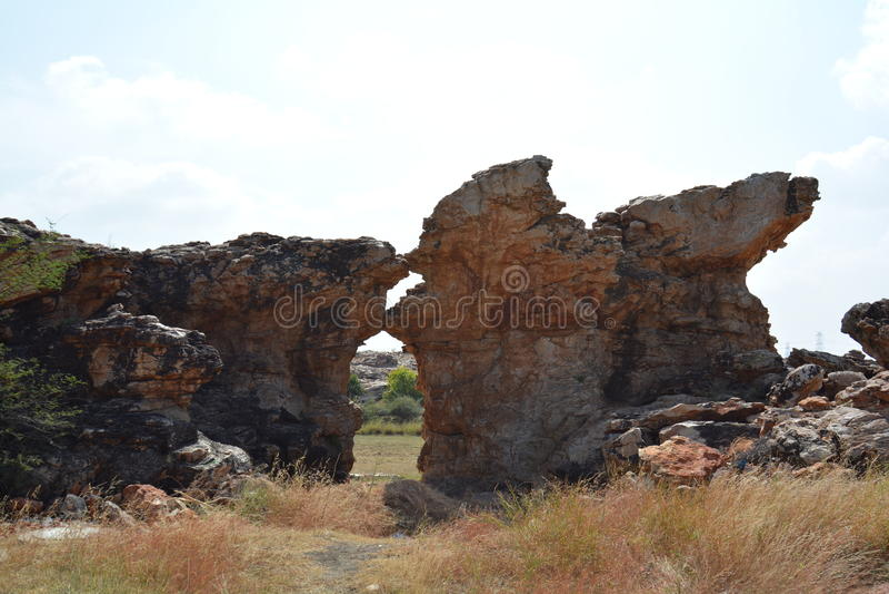 Jardins de rocha de Orvakallu foto de stock
