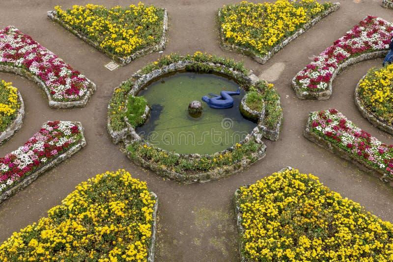 Jardins de Rufolo de villa, Ravello Italie photos stock