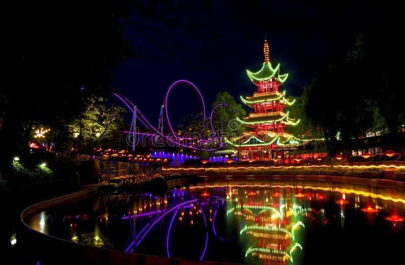 Jardins de tivoli image stock image du copenhague for Jardin tivoli
