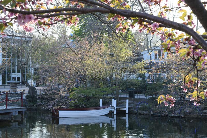 Jardins de Tivoli em Copenhaguen fotografia de stock
