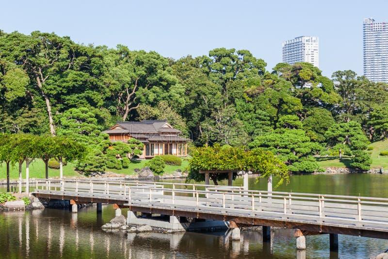Jardins de Tokyo Hamarikyu photos stock