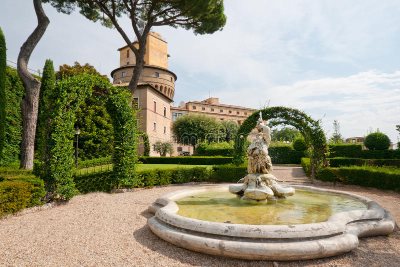 Jardins de Vatican fotos de stock royalty free