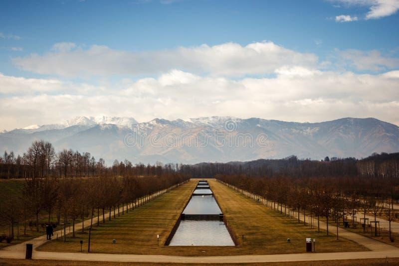 Jardins de Venaria Reale, Turin, Itália imagem de stock royalty free