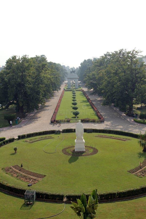 Jardins de Victoria Memorial em Kolkata foto de stock