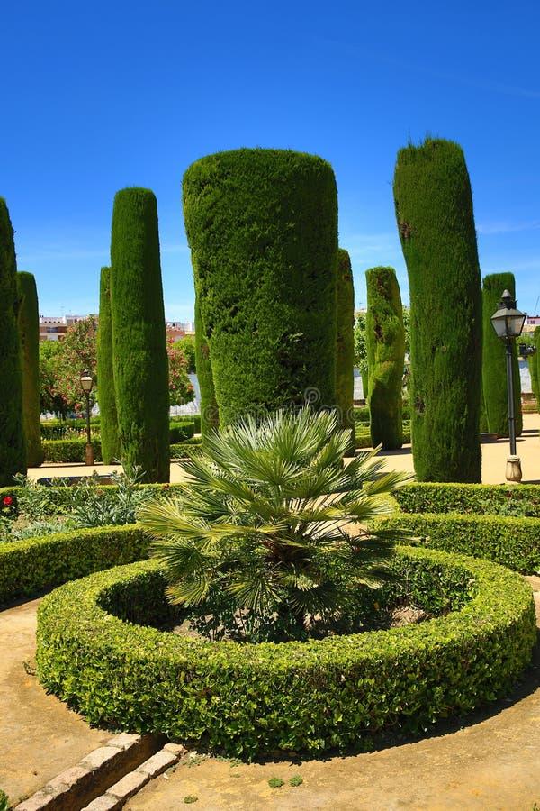 Jardins do Alcazar de los Reyes Cristianos, Córdova, Espanha O lugar é local declarado do patrimônio mundial do UNESCO Córdova, S fotos de stock royalty free