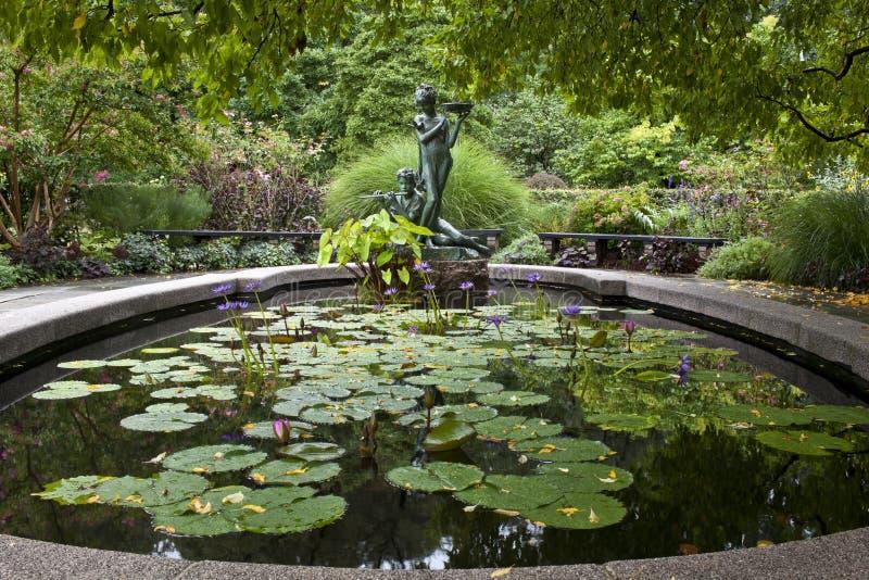 Jardins do conservatório de Central Park fotografia de stock