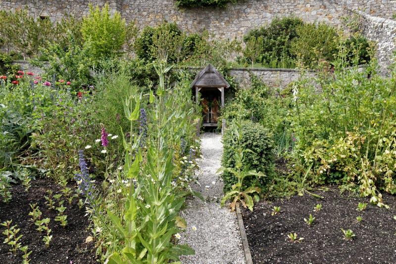 Jardins do palácio de Culross, Escócia fotos de stock