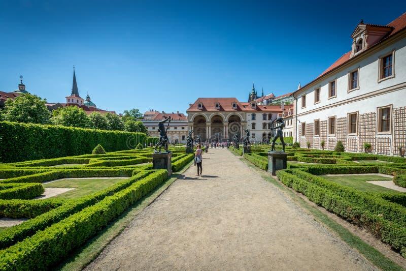 Jardins do palácio de Waldstein imagens de stock royalty free