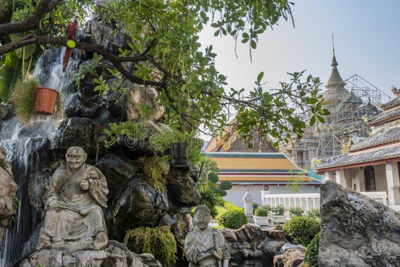 Jardins do palácio grande em Banguecoque Tailândia fotografia de stock royalty free