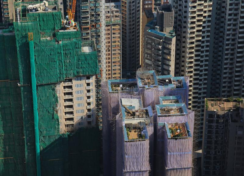 Jardins do telhado em Hong Kong imagens de stock royalty free