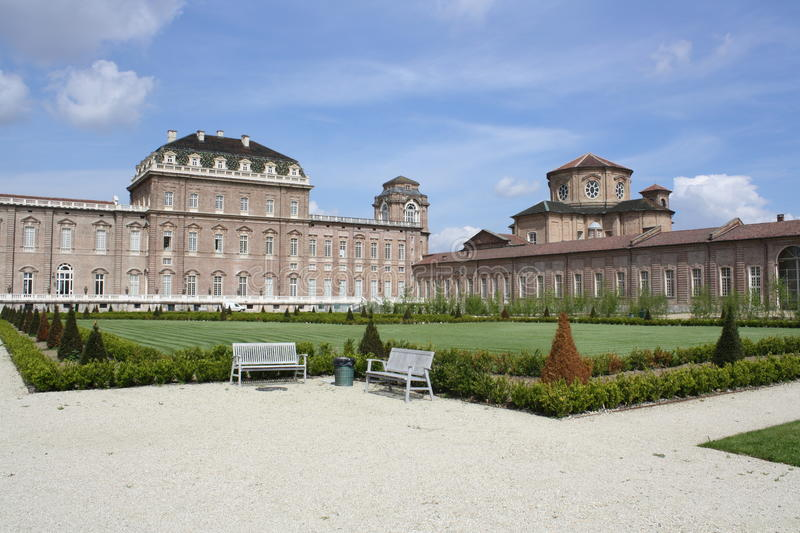 Jardins do Venaria Royal Palace imagem de stock royalty free