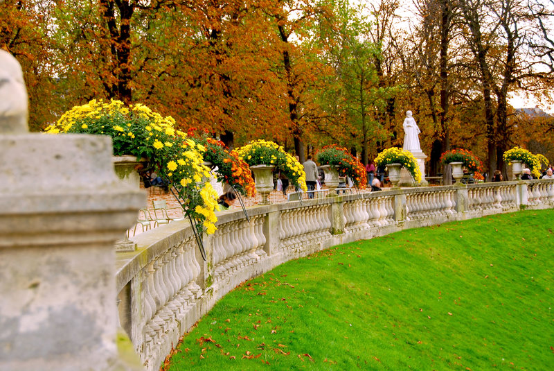 Jardins du Luxembourg obrazy royalty free