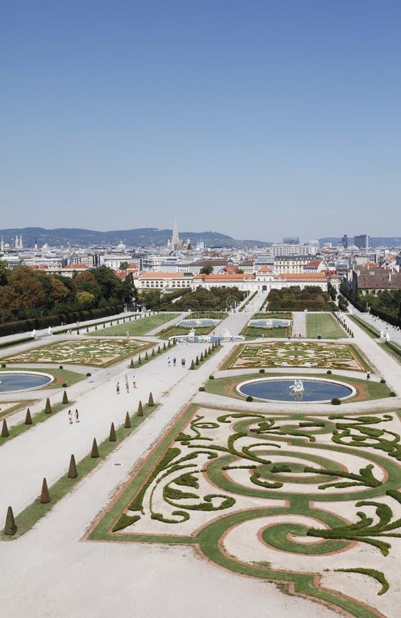 Jardins du palais de belvédère photo libre de droits