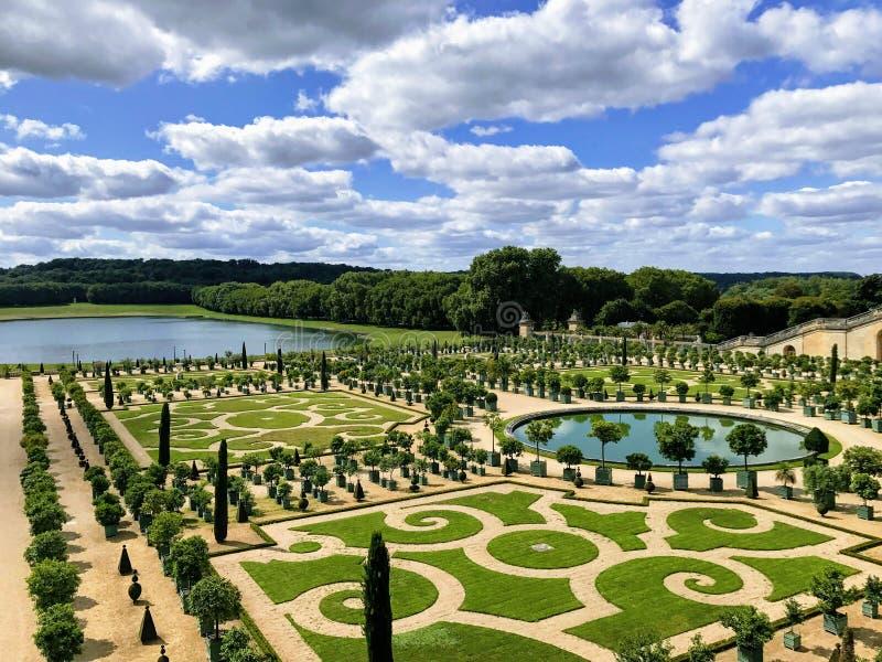 Jardins du palais de Versailles images stock