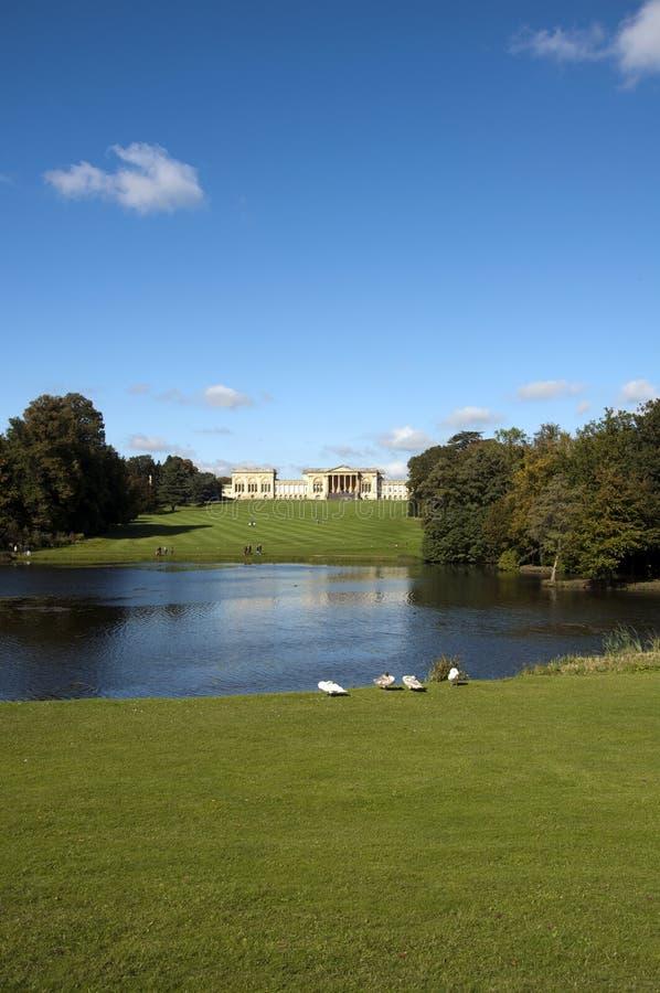 Jardins e casa de Stowe imagem de stock
