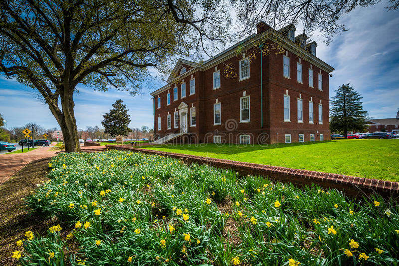 Jardins e a construção de Tatnall em Dôvar, Delaware fotos de stock