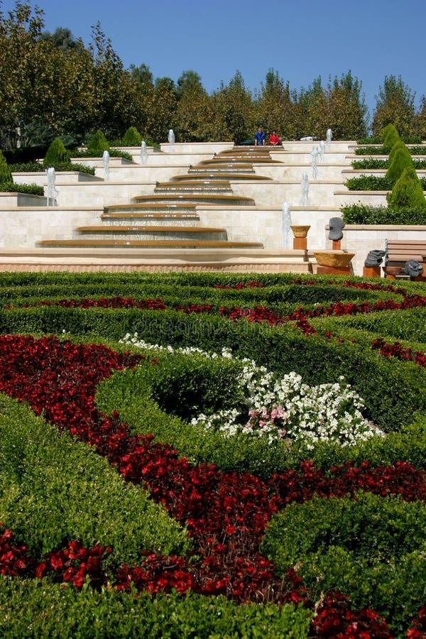 Jardins en terrasse photographie stock libre de droits