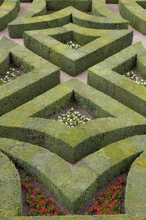 Jardins formais no castelo, de, villandry, loire, vale, france fotografia de stock royalty free