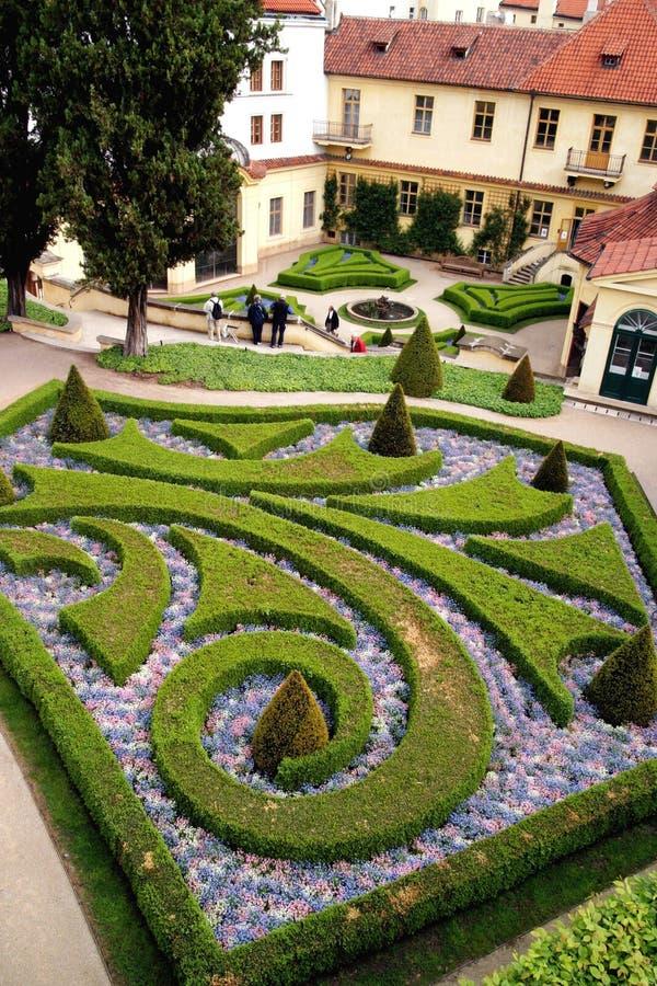 Jardins franceses em Praga fotos de stock royalty free