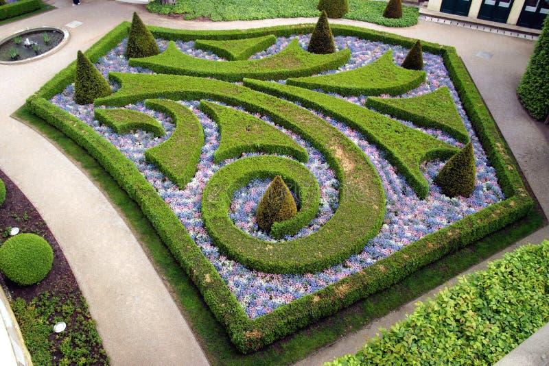 Jardins franceses em Praga imagens de stock
