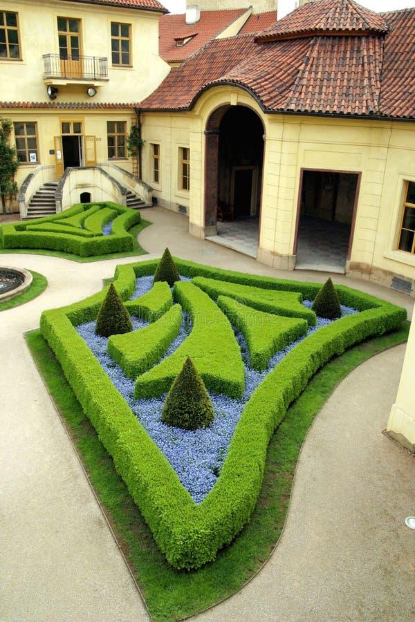 Jardins franceses em Praga foto de stock