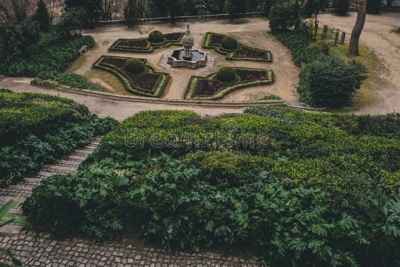 Jardins gör Palacio de Cristal, Porto, Portugal royaltyfria bilder