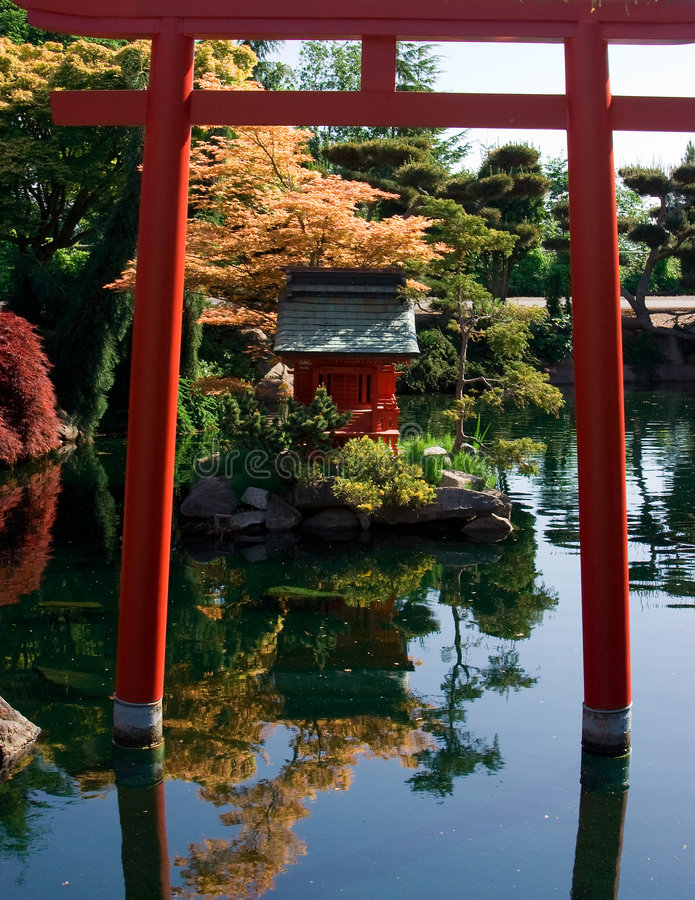 Jardins japoneses fotos de stock