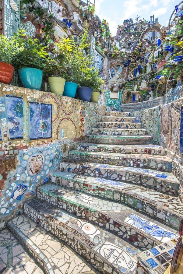 Jardins magiques colorés, Philadelphie, Pennsylvanie photographie stock