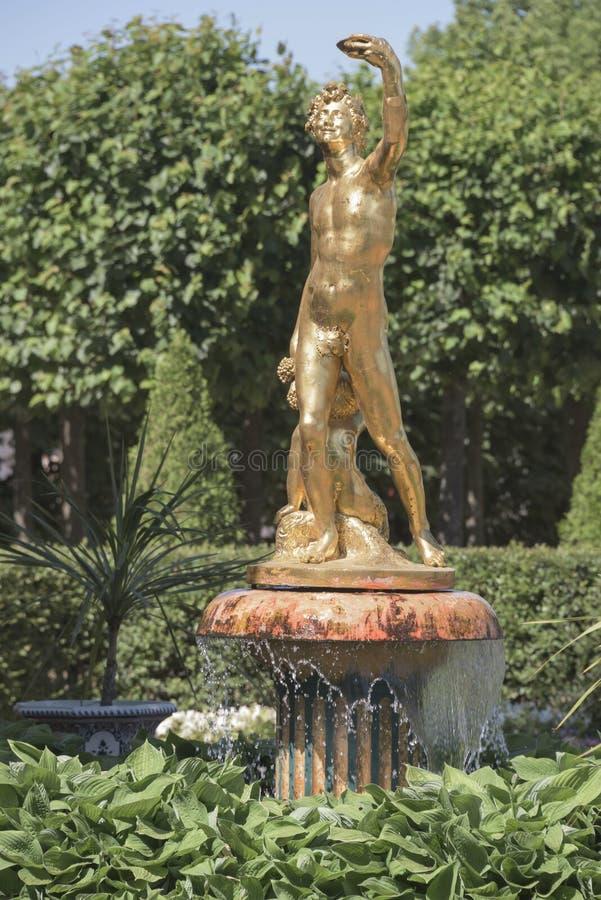 Jardins Monplaisir do Fonte-sino fotografia de stock royalty free