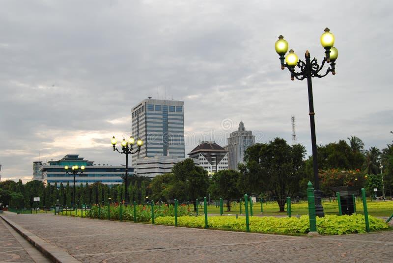 Jardins na cidade imagens de stock royalty free