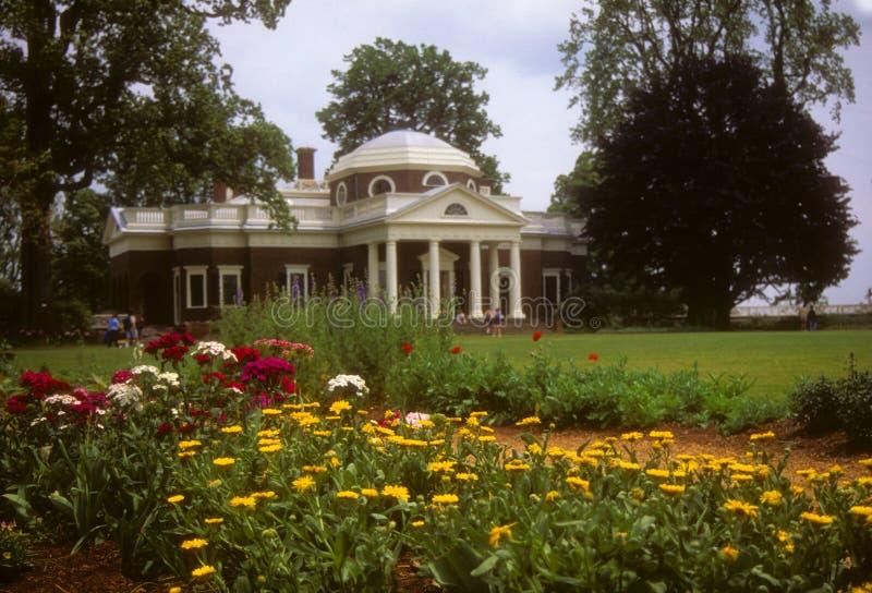 Jardins na HOME de Jefferson em Monticello fotos de stock royalty free