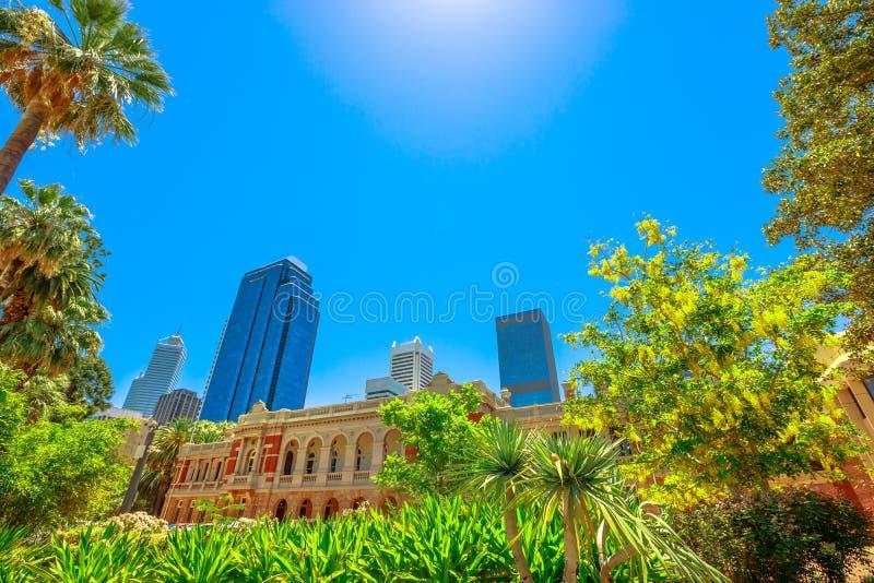 Jardins Perth da corte suprema fotografia de stock