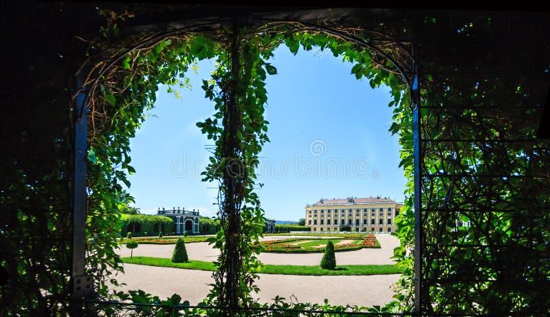 Jardins privés de Meidling : Prince héritier Garden et le jardin sur la cave du palais de Schonbrunn à Vienne, Autriche photo libre de droits