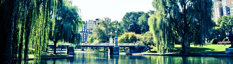 Jardins publics de Boston photos libres de droits
