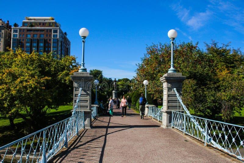 Jardins publics de Boston photographie stock libre de droits
