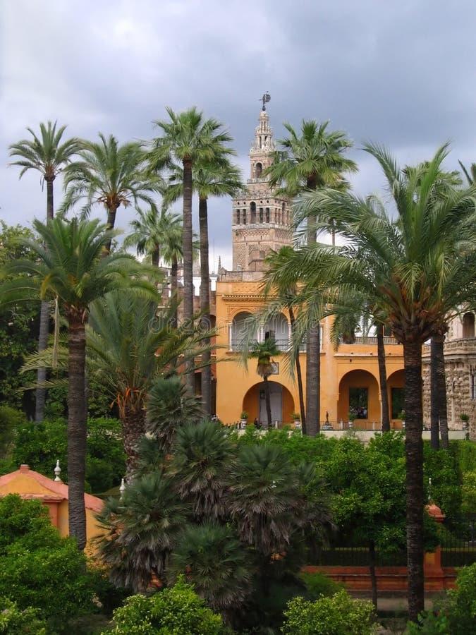 Jardins reais do Alcazar, Sevilha imagens de stock