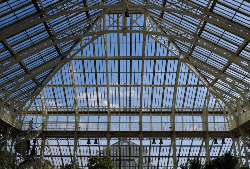 Jardins temperados de Kew da estrutura da casa fotografia de stock royalty free