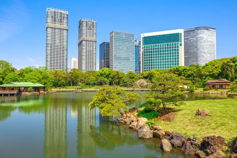 Jardins Tokyo de Hamarikyu photos libres de droits