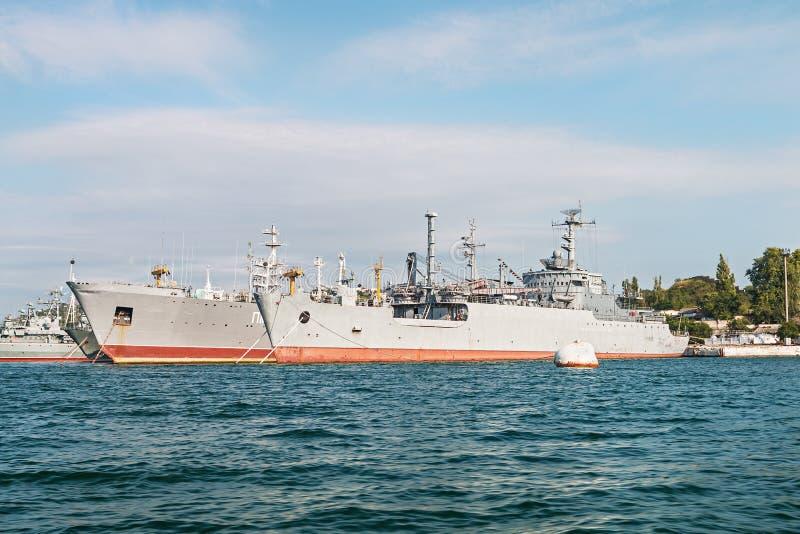 Jardy i dok stocznia w Sevastopol obraz royalty free