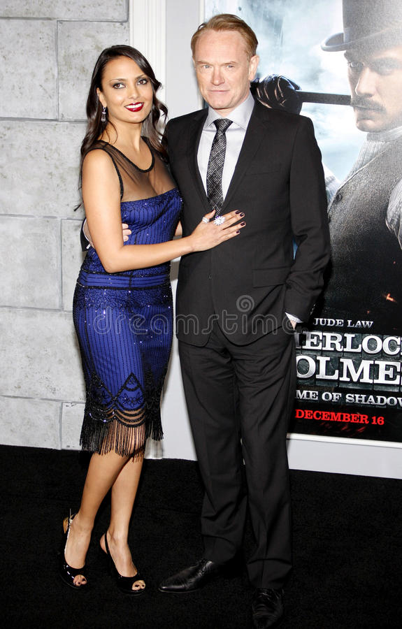 Jared Harris and Allegra Riggio. December 6, 2011. Jared Harris and Allegra Riggio at the Los Angeles premiere of Sherlock Holmes: A Game Of Shadows held at the royalty free stock photography